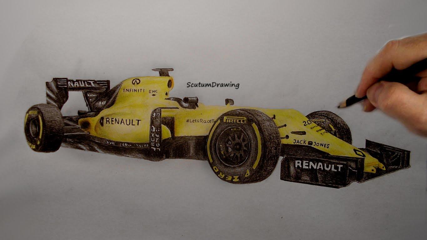 Drawn vehicle formula 1 How Car R F1 Renault