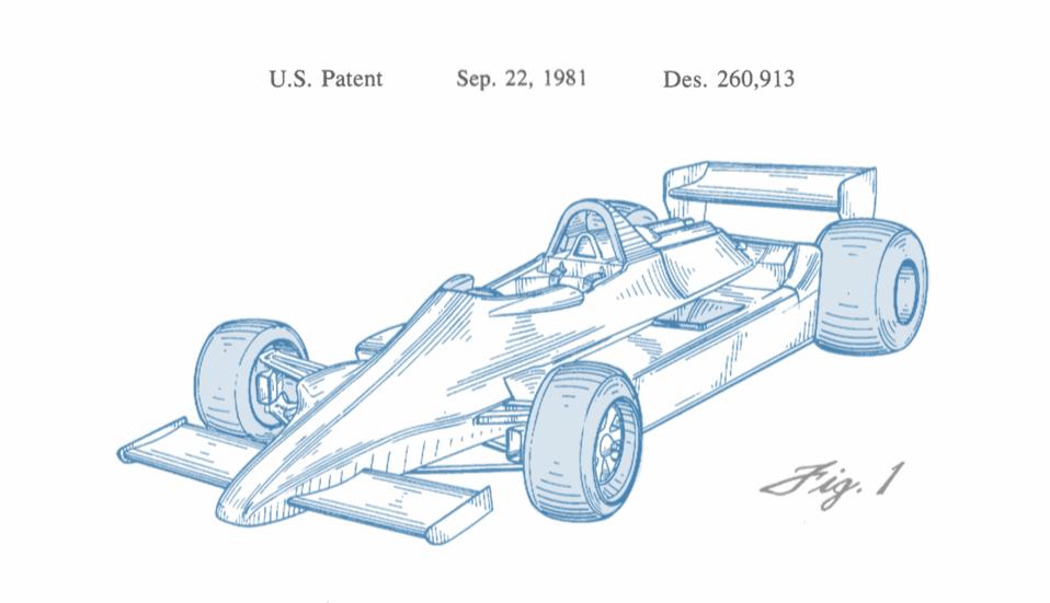 Drawn vehicle formula 1 (or Formula design Lotus Design