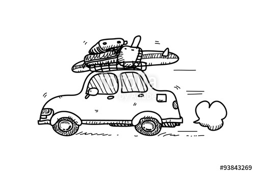 Drawn vehicle hand drawn  with car doodle lots