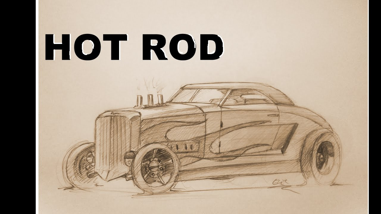 Drawn vehicle hot rod To YouTube draw Rod How