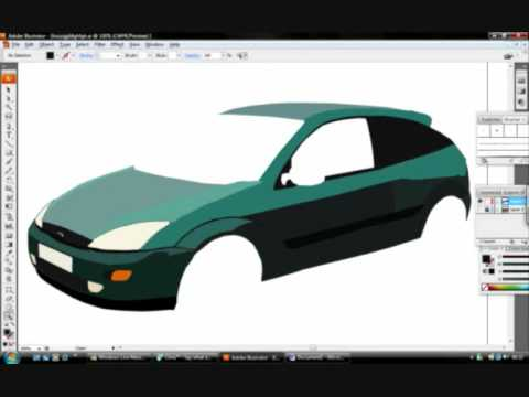 Drawn vehicle illustrator Focus Focus Ford Adobe a