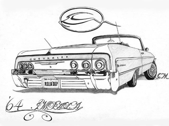 Drawn vehicle impala Pinterest Rollin'Deep Lowriders 64 by
