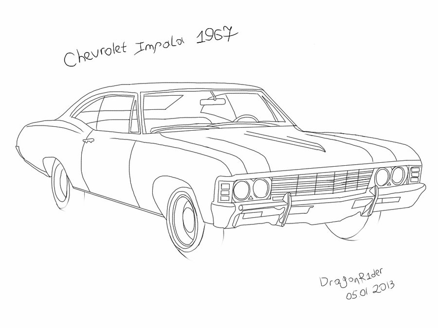 Drawn vehicle impala Dragonr1der by by Impala 1967
