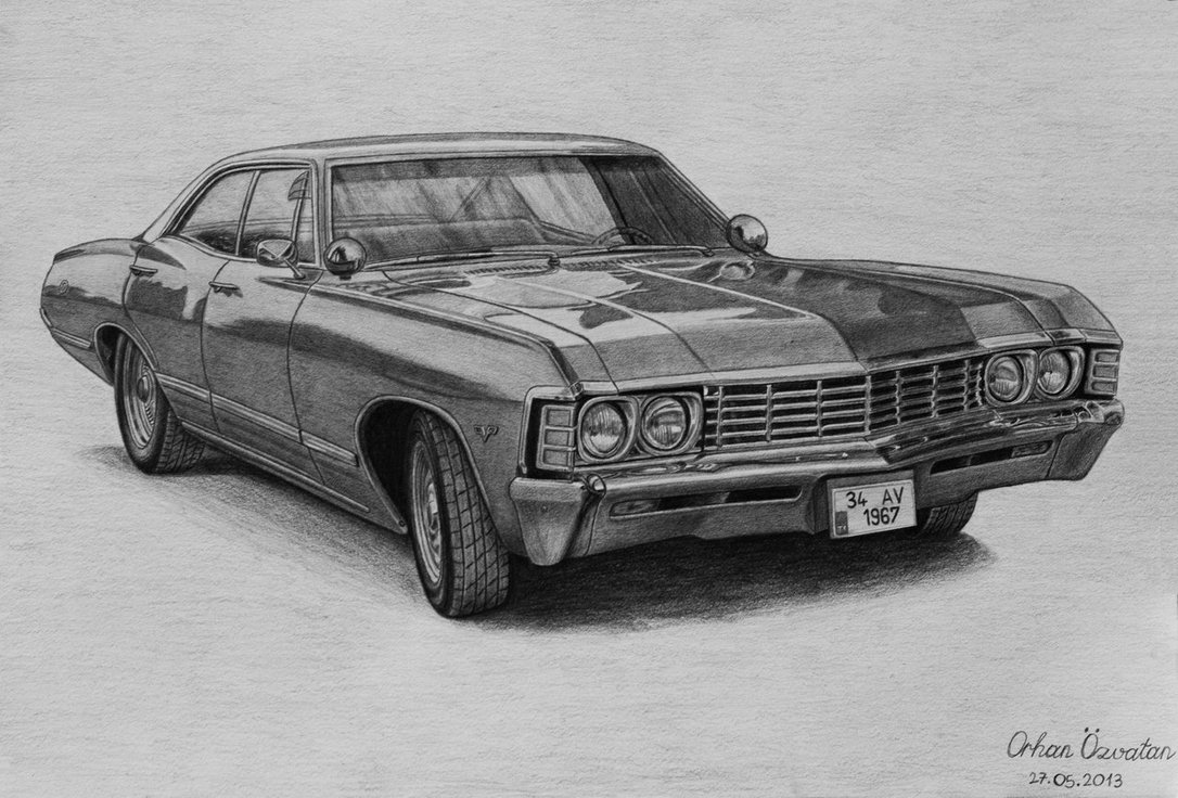 Drawn vehicle impala IdeasCar Chevrolet ArtArt by Impala
