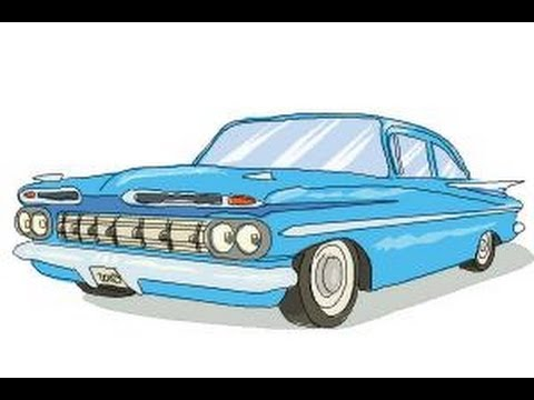 Drawn vehicle impala Draw How to  Chevrolet