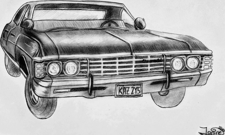 Drawn vehicle impala A impala DeviantArt Winchester impala
