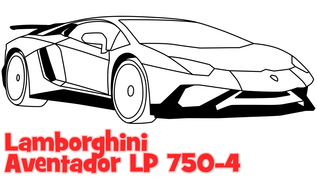 Drawn vehicle lamborghini Easy easy Aventador step Aventador