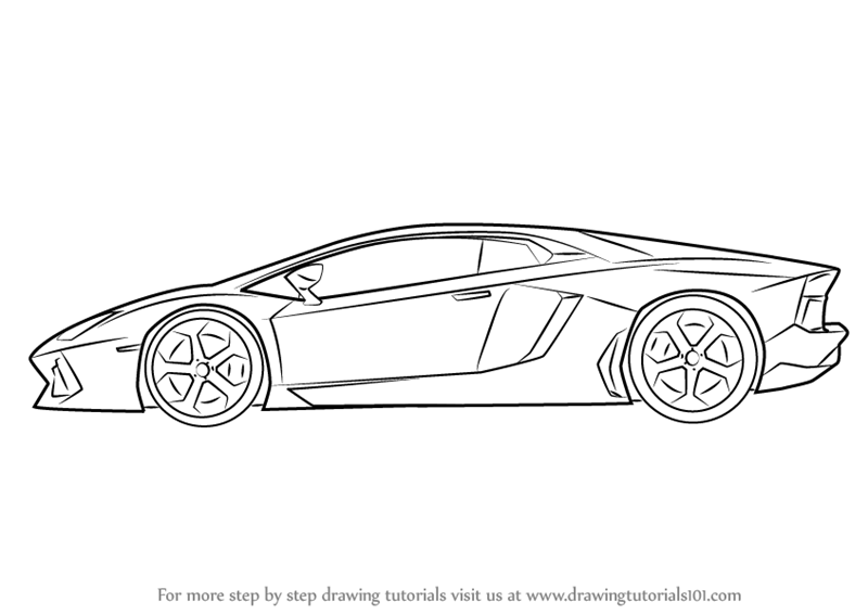 Drawn vehicle lamborghini Car DrawingTutorials101 View to Centenario