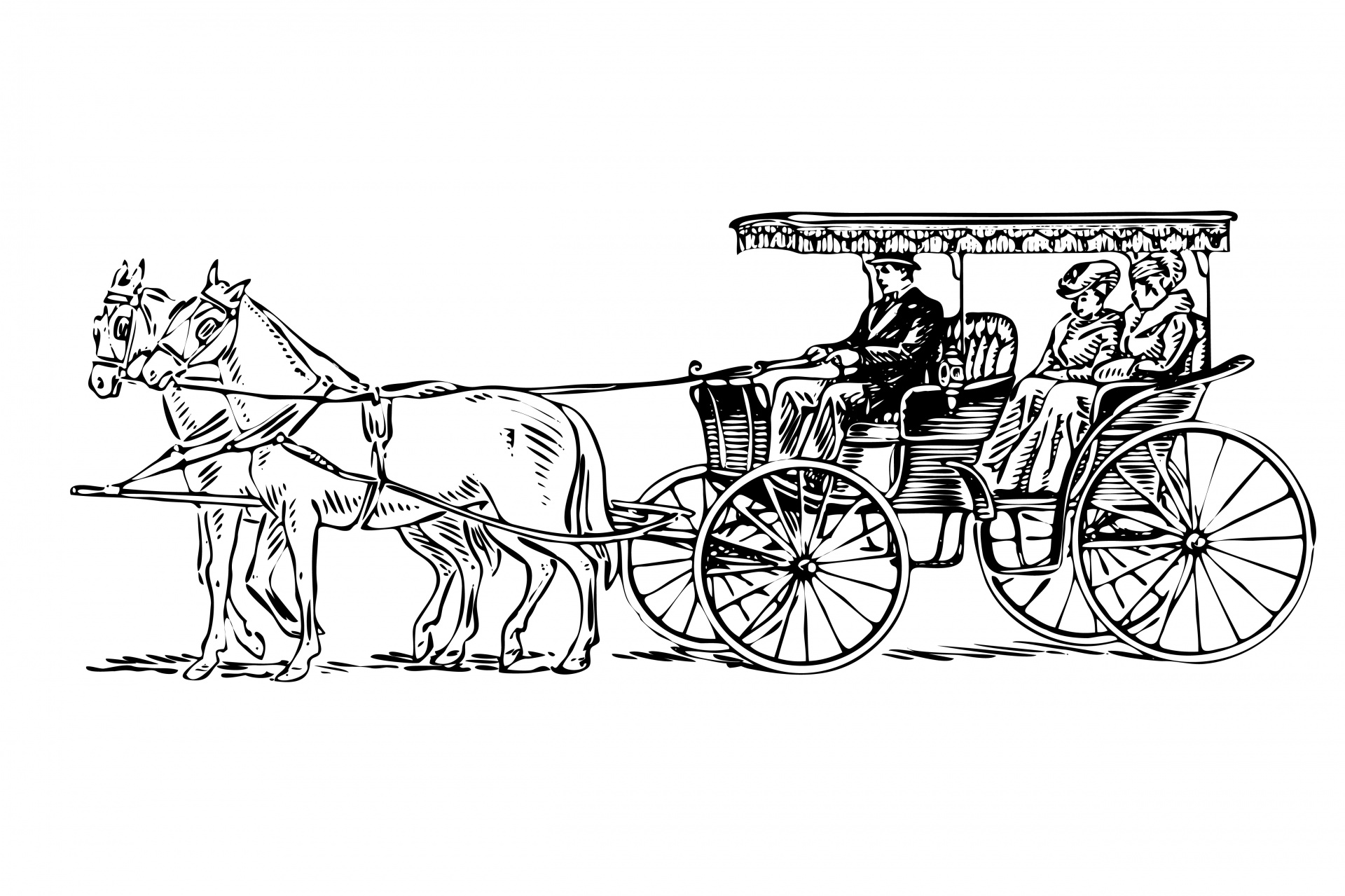 Cart clipart horse drawn wagon Horse Drawn Drawn Clipart Domain