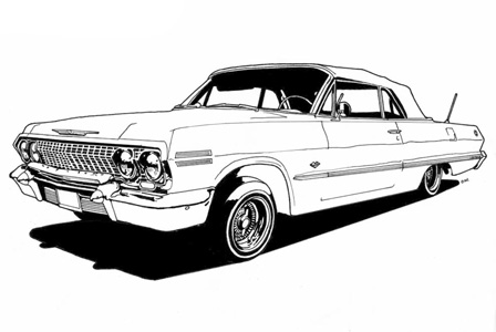 Drawn vehicle lowride car Lowrider drawing Search Illustrations drawing