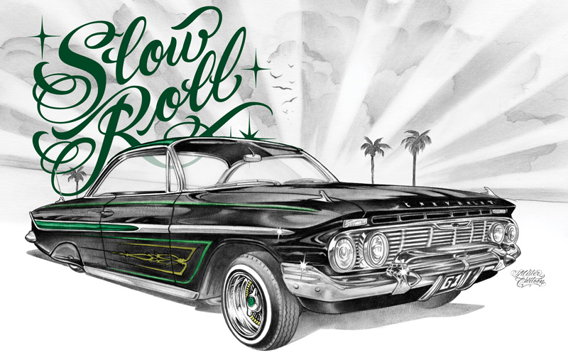 Drawn vehicle lowride car Lowrider of East Poison 1961