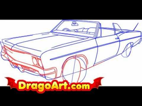 Drawn vehicle lowride car Step step to draw draw