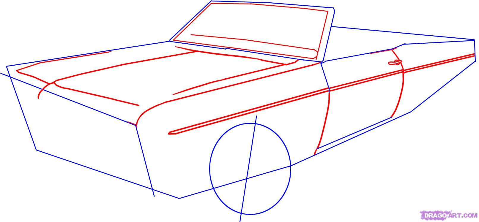 Drawn vehicle lowride car  car 2 to Draw