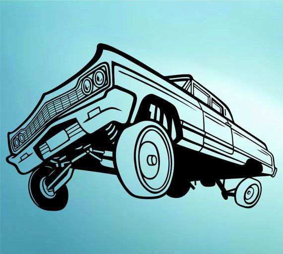 Drawn vehicle lowride car Sticker Mural Graphic Cars with