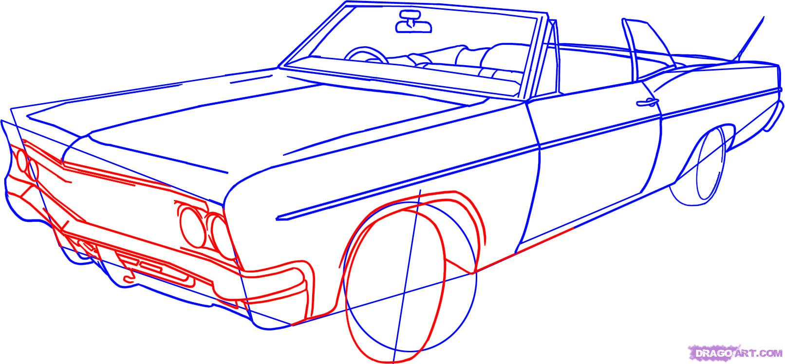 Drawn vehicle lowrider 4 How Online Draw Draw