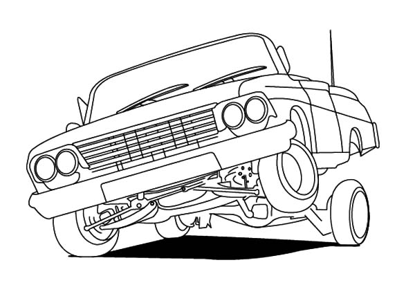 Drawn vehicle lowrider Hydraulics Coloring Lowrider  Lowrider