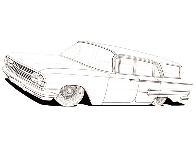 Drawn vehicle lowrider Sketch a I Arte to