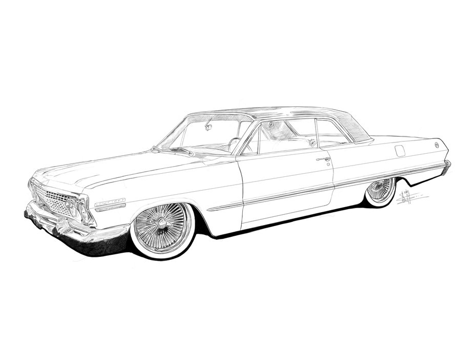 Drawn vehicle lowrider Pages Google cars Pinterest lowrider