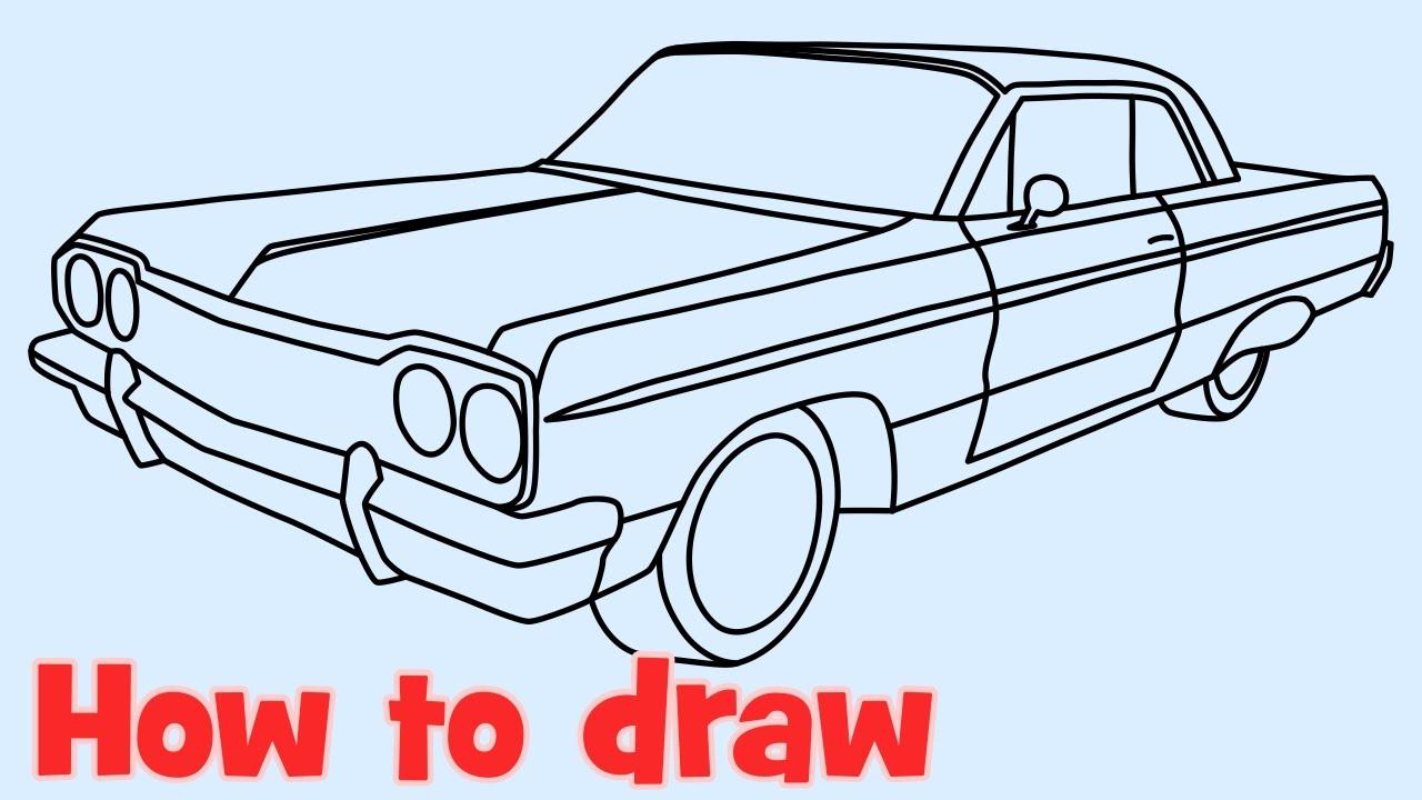 Drawn vehicle lowrider Lowrider draw 1964 How car
