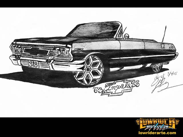 Drawn vehicle lowrider Drawings Paintings Pictures  Car
