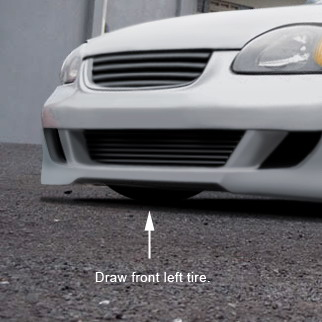 Drawn vehicle modified car Your Into and color tire