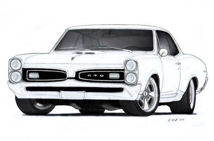 Drawn vehicle modified car Pontiac  Drawings Drawing deviantart