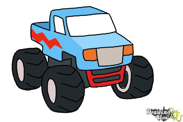Drawn vehicle monster A How How Step 8