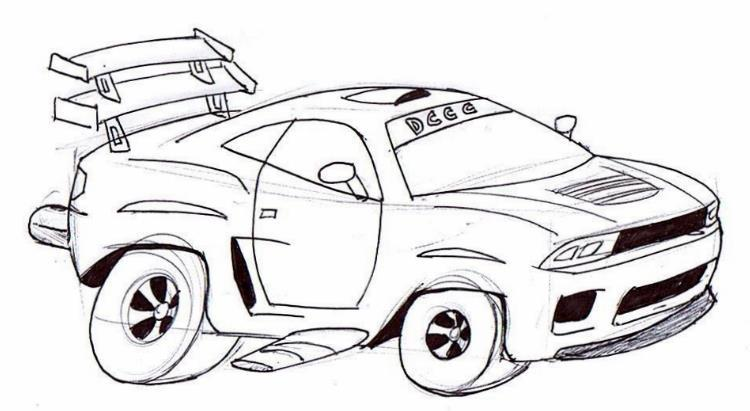 Drawn vehicle monster To stuff shape put Over