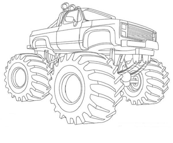 Drawn vehicle monster 200 coloring Monster learns that