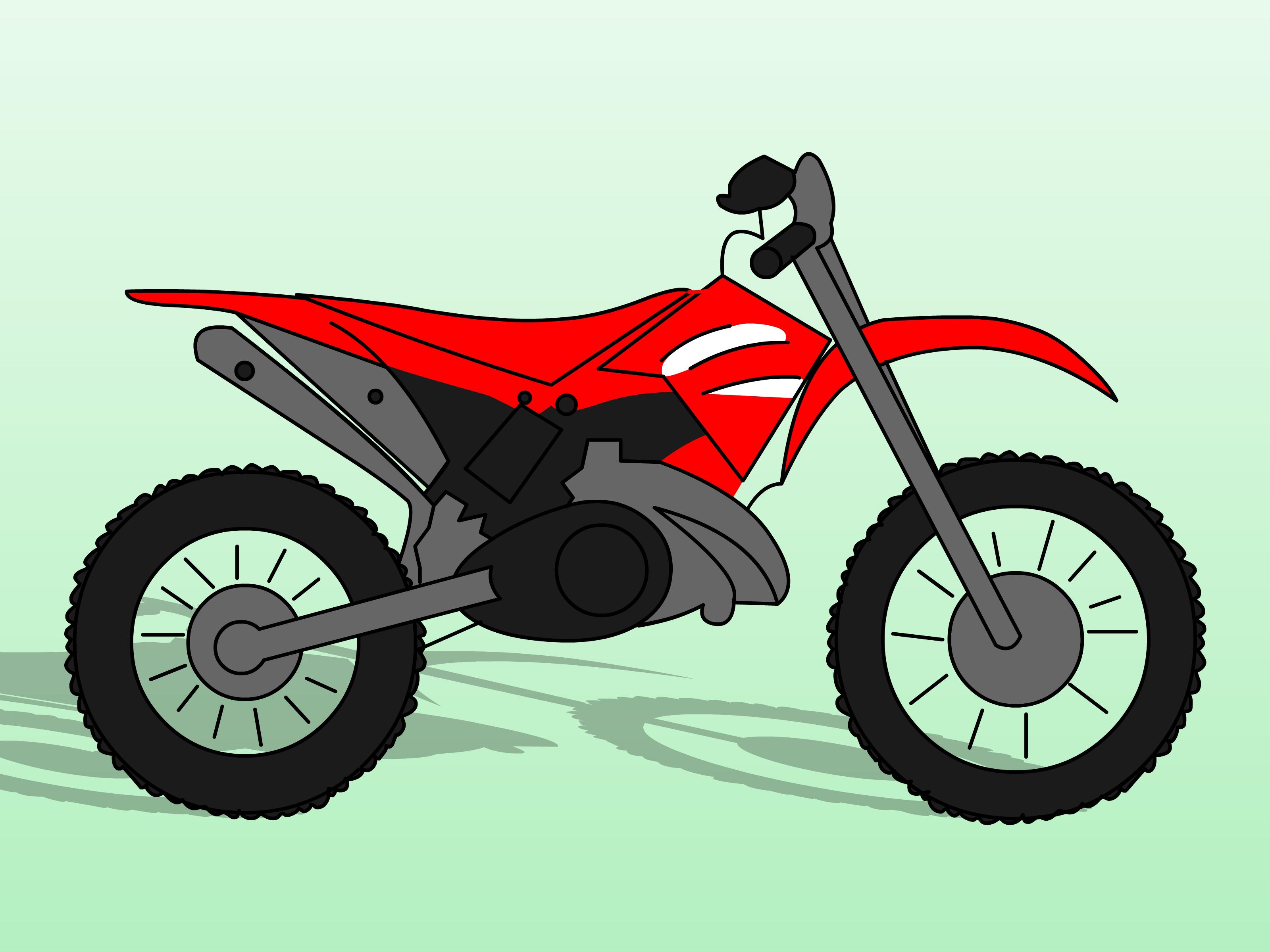 Drawn bike easy Dirt Bikes Dirt Draw sharpener