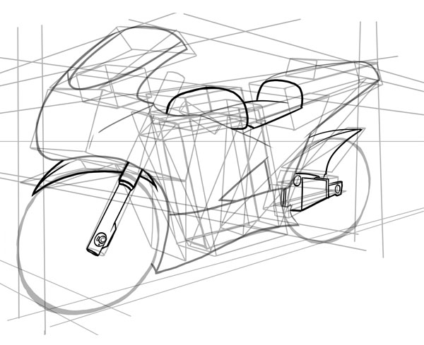 Drawn vehicle motobike Draw How starting to a