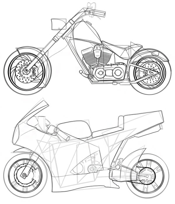 Drawn vehicle motobike Draw How erase to dont