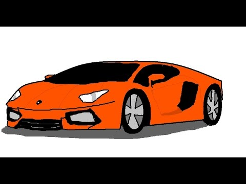 Drawn vehicle ms paint YouTube How to car MS