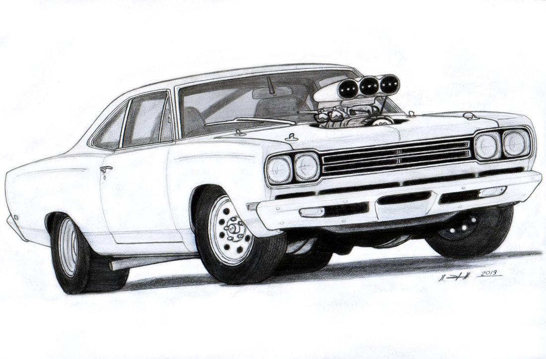 Dodge clipart mustang car Drawing Muscle Muscle Roadrunner by
