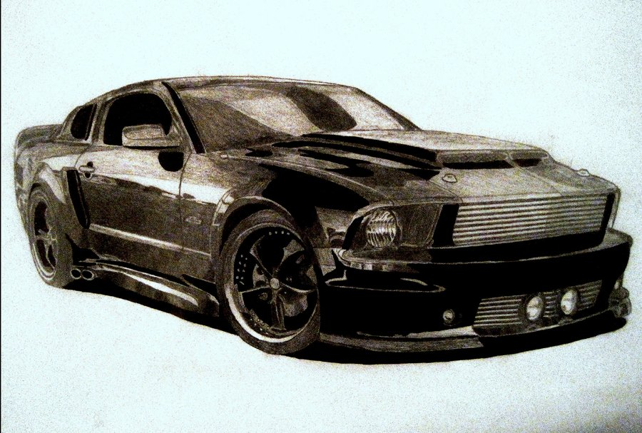 Drawn vehicle mustang gt GT GT on drawing zalmyw88
