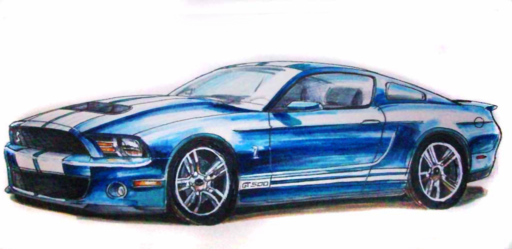 Drawn vehicle mustang gt Draw GT a GT to