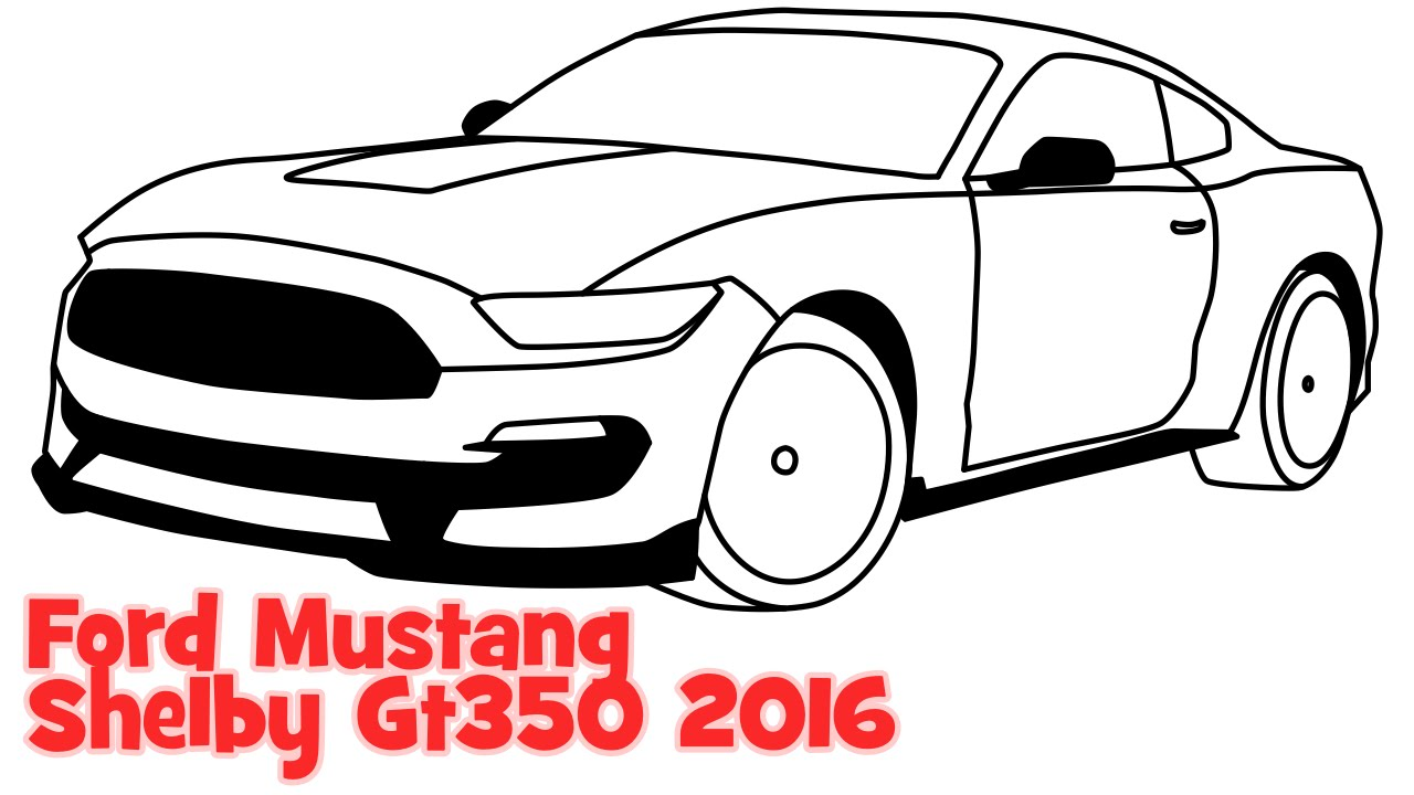 Drawn vehicle mustang gt Sportcar to Mustang Shelby step