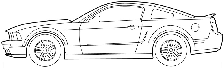 Drawn vehicle mustang gt Click ' Size jpg OM