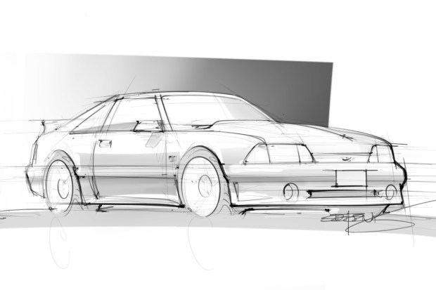 Drawn vehicle mustang gt The mustang 8 Fox is