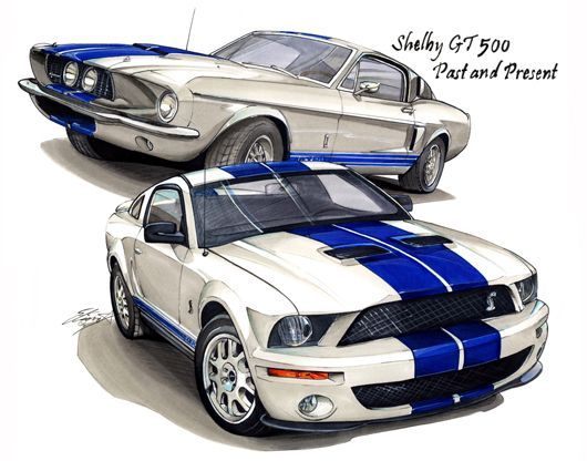 Drawn vehicle mustang gt Ford and and Carignan 2000