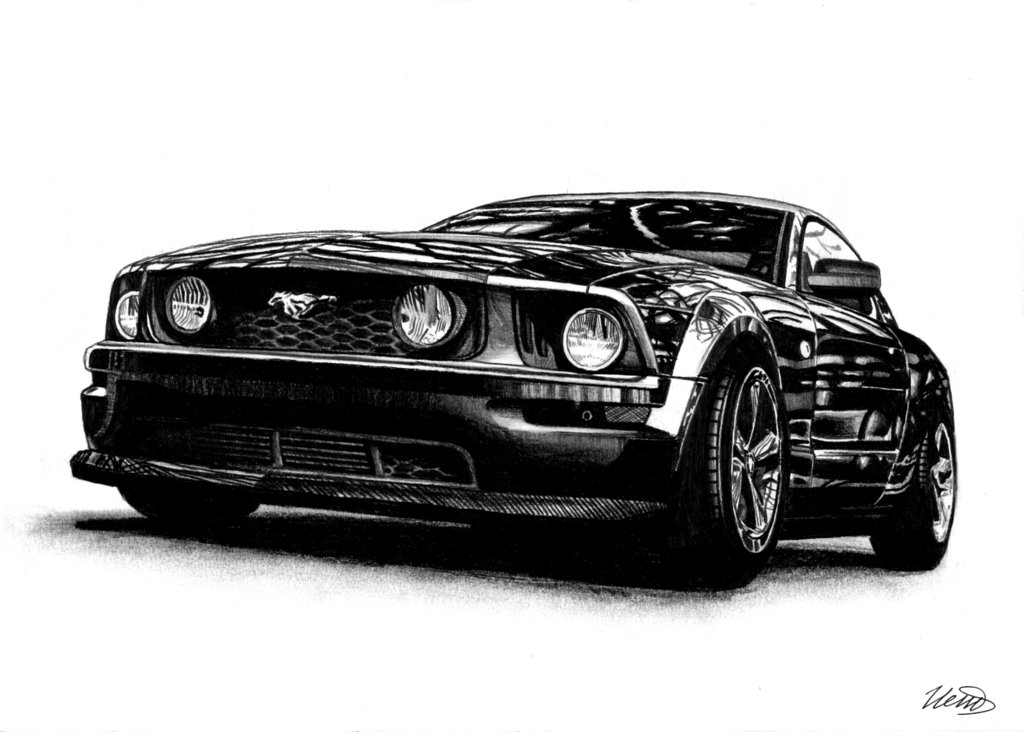 Drawn vehicle mustang gt By MUSTANG by GT CAR