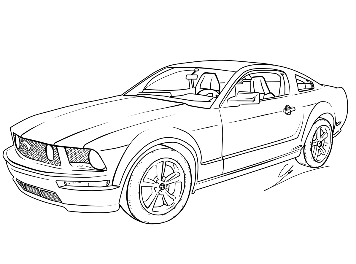 Drawn vehicle mustang gt GT Mustang Ford by Mustang