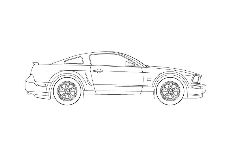 Drawn vehicle mustang gt To Mustang on Ford