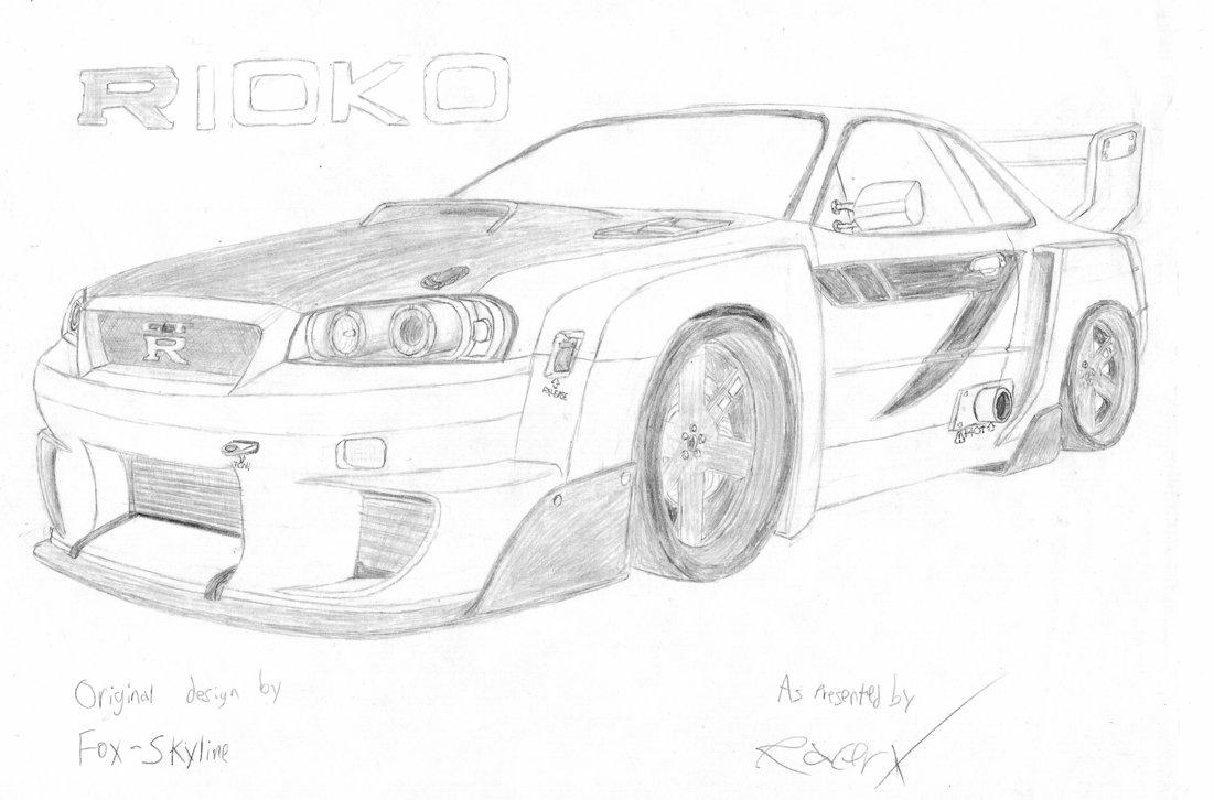 Drawn vehicle nissan Skyline GT RacerXNFS by DeviantArt