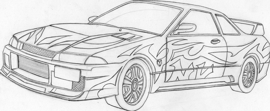 Drawn vehicle nissan Drawing Clip  Download Clip
