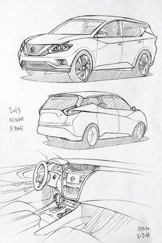 Drawn vehicle nissan Drawing Kim drawing Xtrail 2015