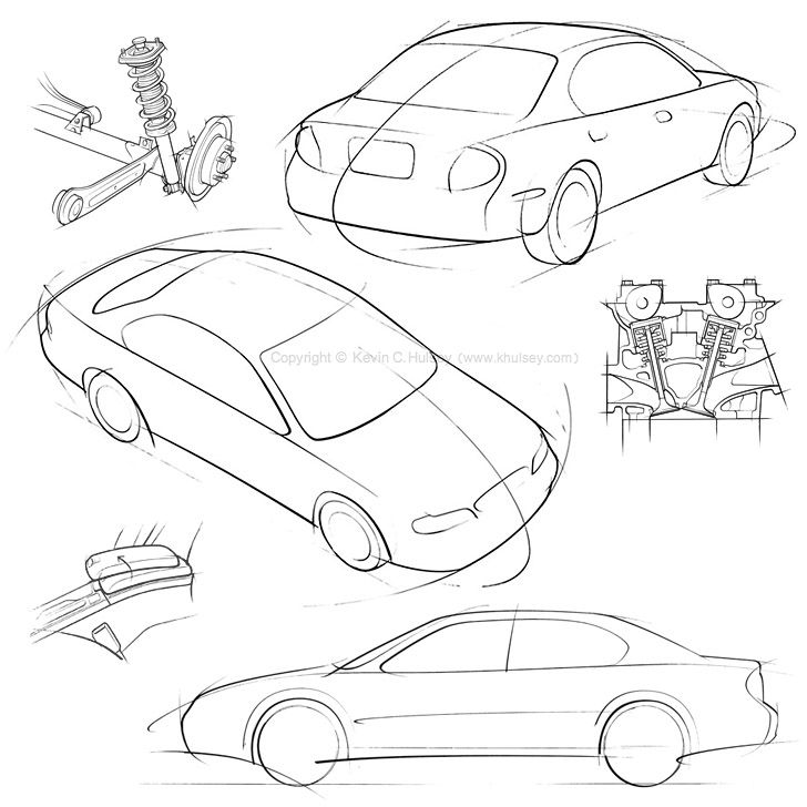 Drawn vehicle nissan Concept Illustration Drawings drawings Cars