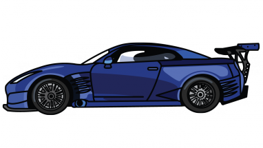 Drawn vehicle nissan GTR Drawing to 7 Nissan