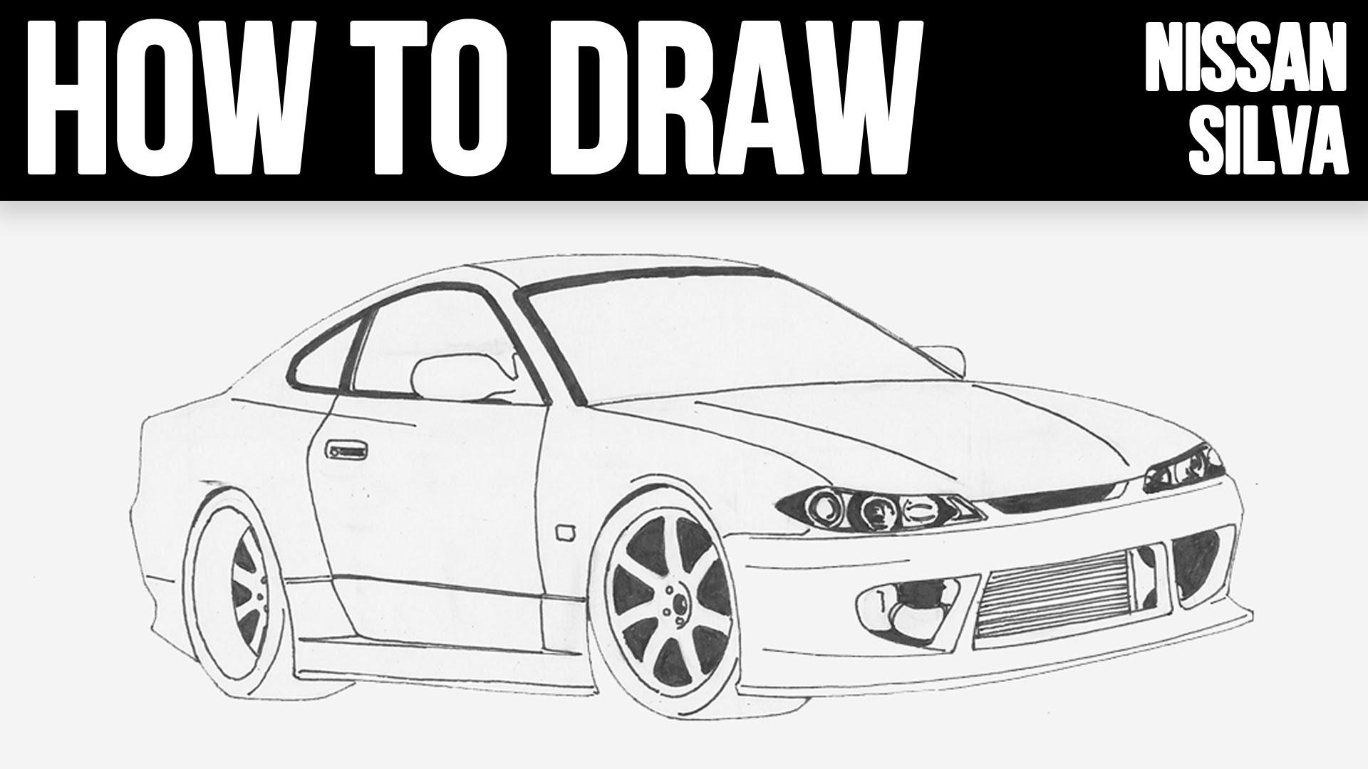 Drawn vehicle nissan TO HOW Silvia S15 Step