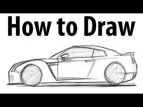 Drawn vehicle nissan How it Nissan GT R